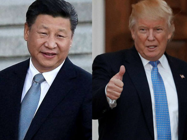 Chinese President Xi Jinping and US President Donald Trump. PTI file photo