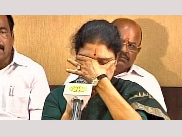 Sasikala's emotional appeal to the AIADMK party workers
