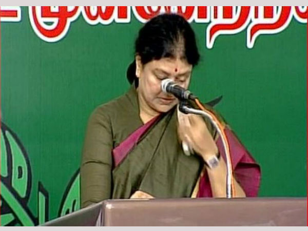 Tears after becoming the AIADMK supremo