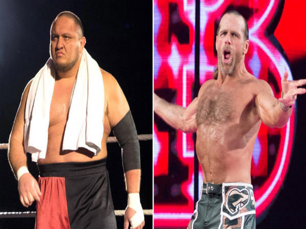 Samoa Joe (left) and Shawn Michaels (Image courtesy: WWE Twitter)