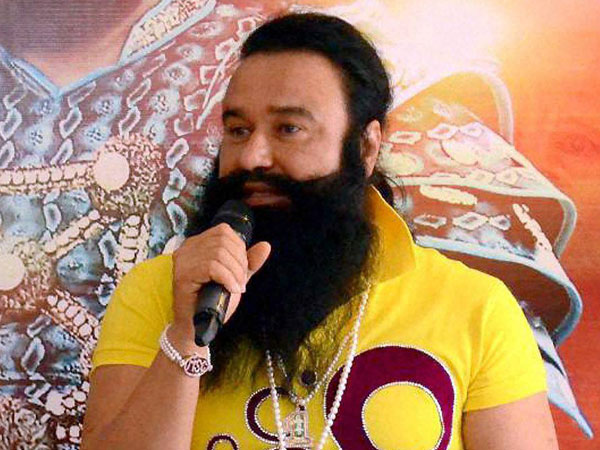 File photo of Gurmeet Ram Rahim Singh at a press conference