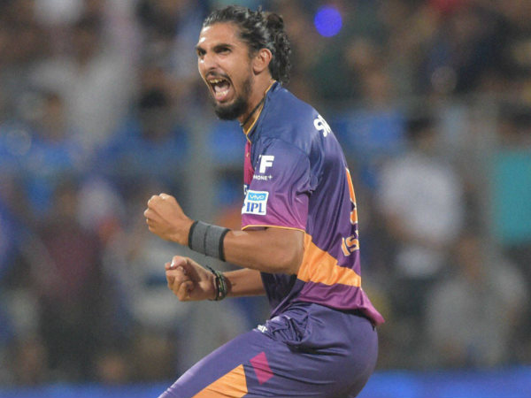 File photo: Ishant Sharma celebrates a wicket for Pune during IPL 2016. He has a base price of Rs 2 crore for this year's auction