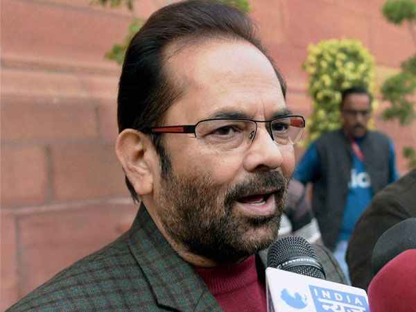 Minister of State for Minority Affairs (independent charge) Mukhtar Abbas Naqvi