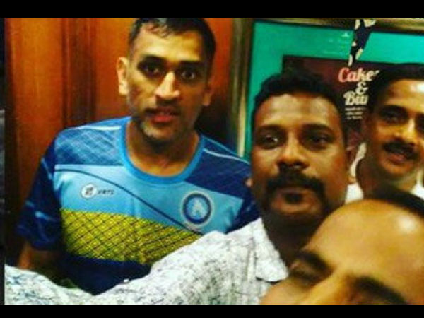 Dhoni enjoys with old friends