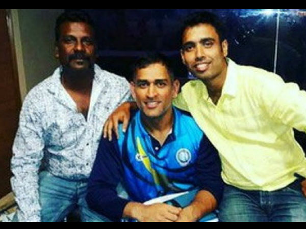 Dhoni bonds with old pals