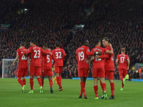 Liverpool players celebrate (Image courtesy: Liverpool Twitter handle)