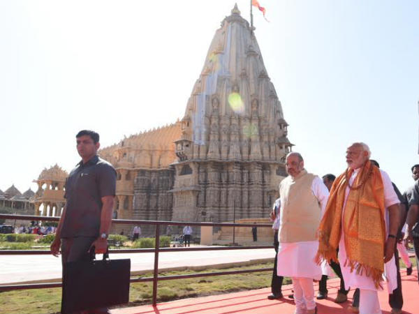 Narendra Modi was accompanied by Amit Shah