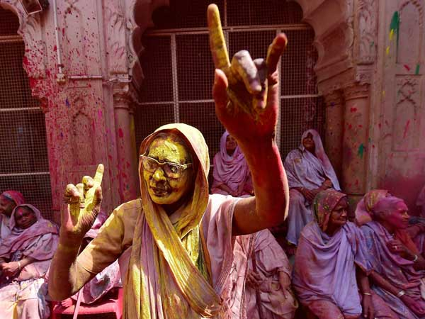 Many were seen dancing at the Holi celebrations