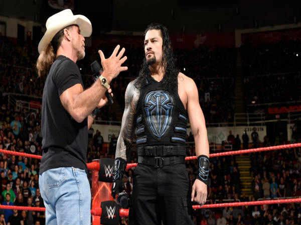 Shawn Michaels (left) and Roman Reigns (Image courtesy: wwe.com)