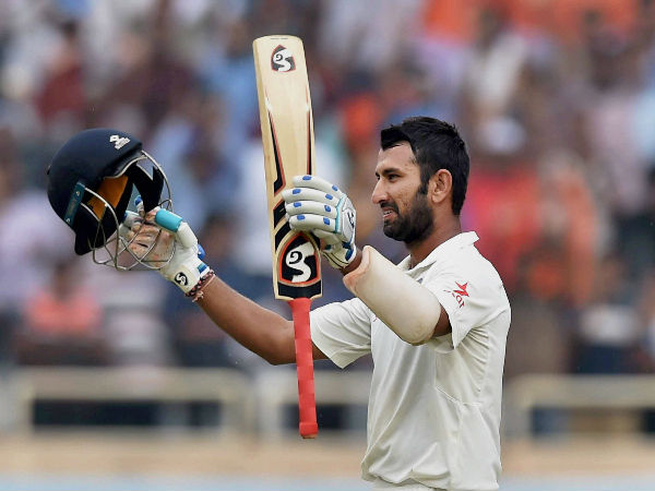 Pujara hits third Test double