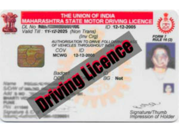 For seeking, renewal of driving licence