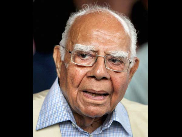 Ram Jethmalani in Kochi hospital, to be discharged soon