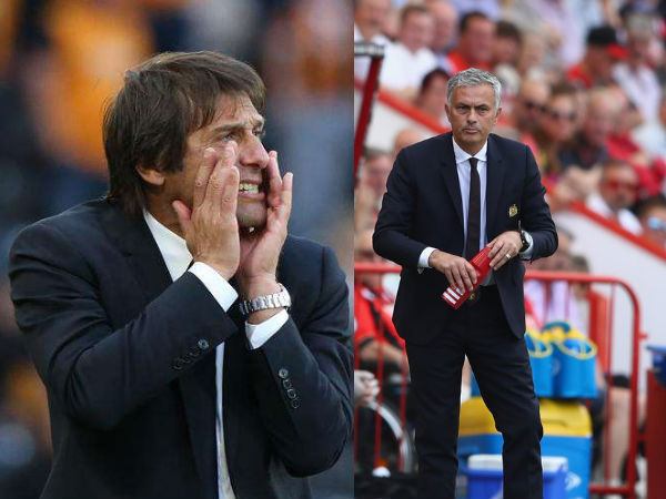 From left: Antonio Conte and Jose Mourinho