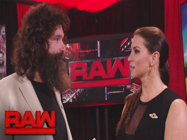 Mick Foley (left) and Stephanie McMahon (Image courtesy: Youtube)