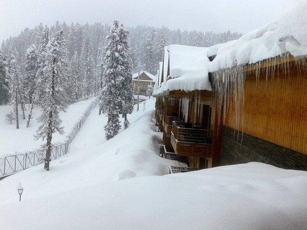 Fresh snowfall in Gulmarg, ski enthusiasts enthralled