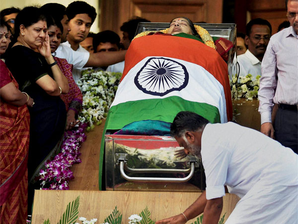 No representation to preserve Jayalalithaa's body, Centre tells court