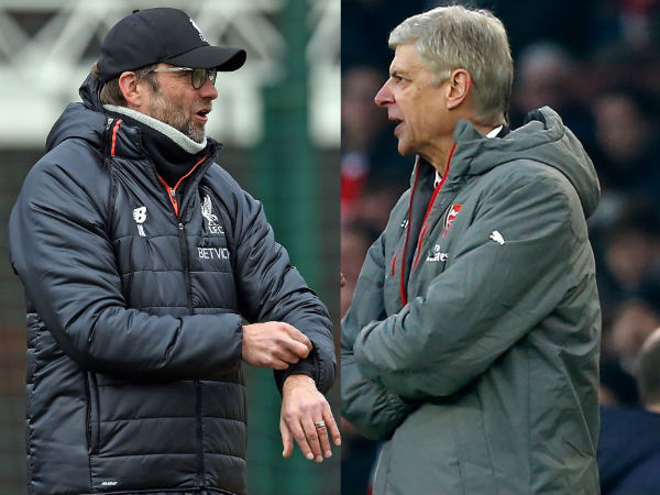 From left: Jurgen Klopp and Arsene Wenger
