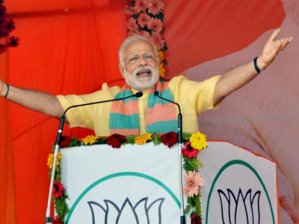 3rd anniversary of Modi <i>sarkar</i>: Assam soaks in saffron, PM wants to meet fans