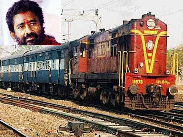 Beware railways, Ravindra Gaikwad is on a train