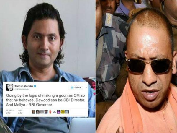 FIR against Shirish Kunder for calling Yogi Adityanath a 'goon' on Twitter