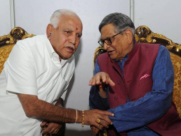 Yeddyurappa formally invites S M Krishna to join BJP