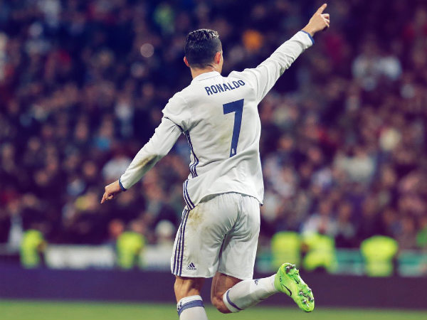 Cristiano Ronaldo celebrates (Image courtesy: Real Madrid Twitter handle)