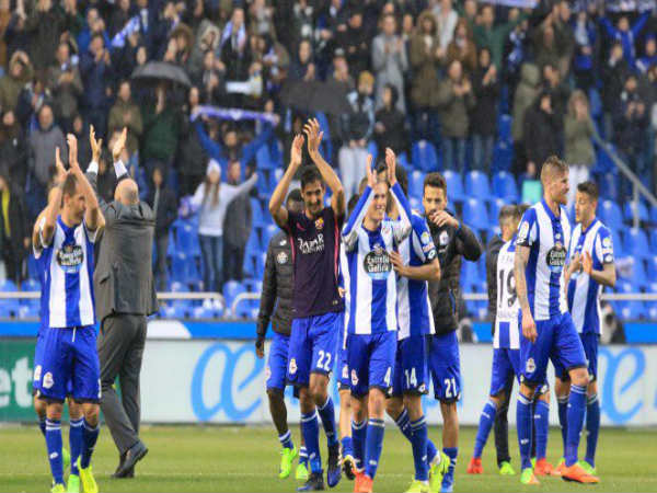 Deportivo players celebrate (Image courtesy: Deportivo Twitter handle)