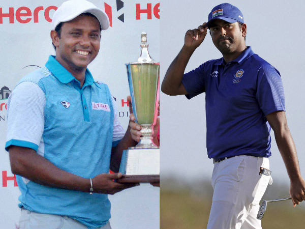 From left: SSP Chawrasia and Anirban Lahiri