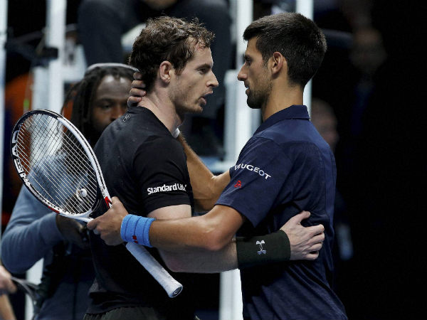 File photo: Andy Murray (left) and Novak Djokovic