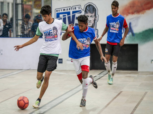 Players in action from the final match between Hyderabad Sporting Vs Kalina Rangers