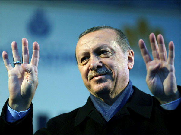 Turkey's President Recep Tayyip Erdogan called Dutch fascists after Dutch withdrew landing permission for the Turkish foreign minister's aircraft.