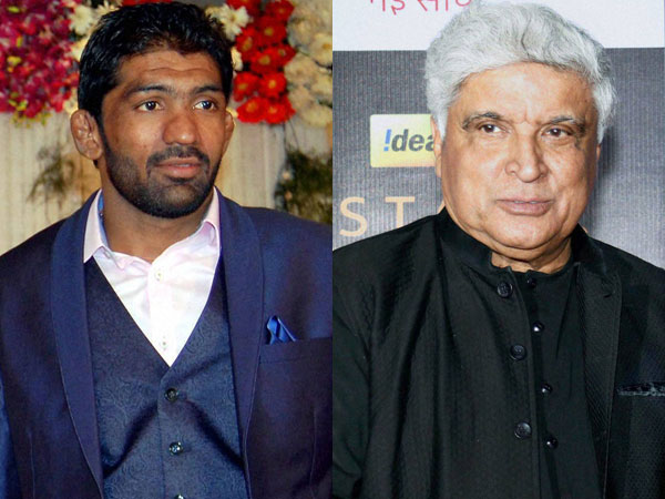 Yogeshwar Dutt and Javed Akhtar