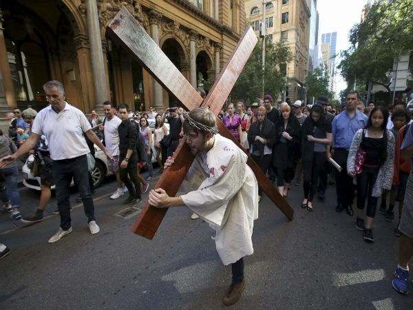 Re-enact journey of the cross procession