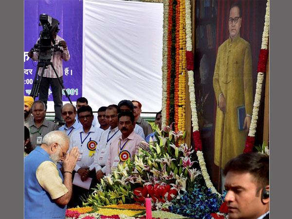 PM Narendra Modi pays tribute to Dr Bhimrao Ambedkar