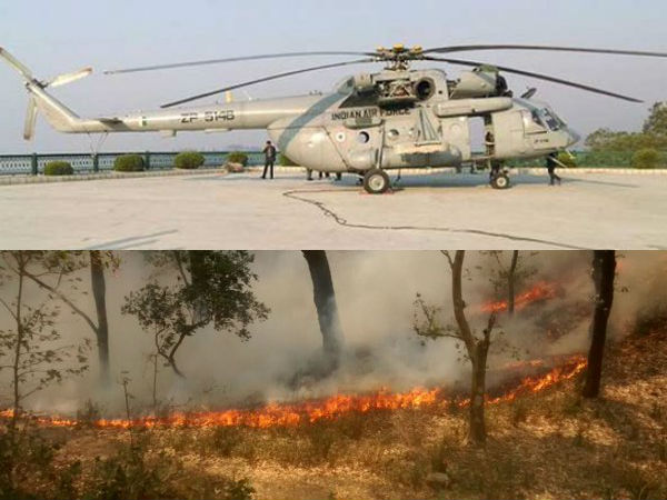 Helicopter unit at Phalodi provides necessary assistance to douse fire at Mukundra Hills tiger reserve
