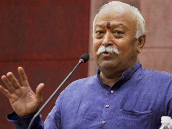 Rashtriya Swayamsevak Sangh chief Mohan Bhagwat. PTI file photo