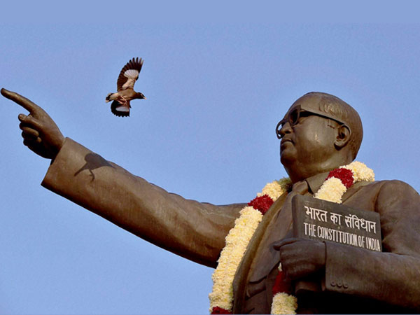File photo of a statue of Dr BR Ambedkar