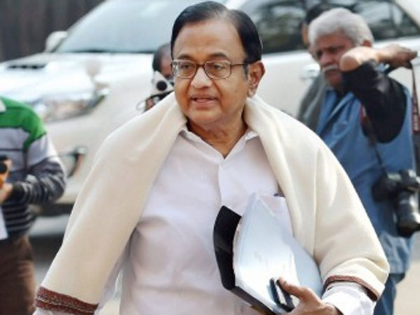Former union minister and senior Congress leader P Chidambaram