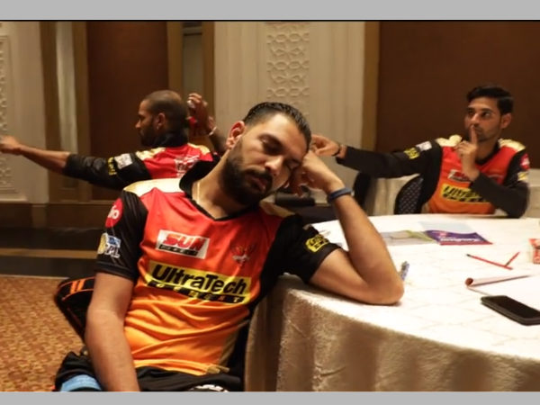SRH players performing 'Mannequin Challenge' (Image courtesy: Youtube)