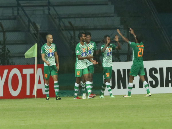 Maziya players celebrate (Image courtesy: AFC Cup Twitter handle)