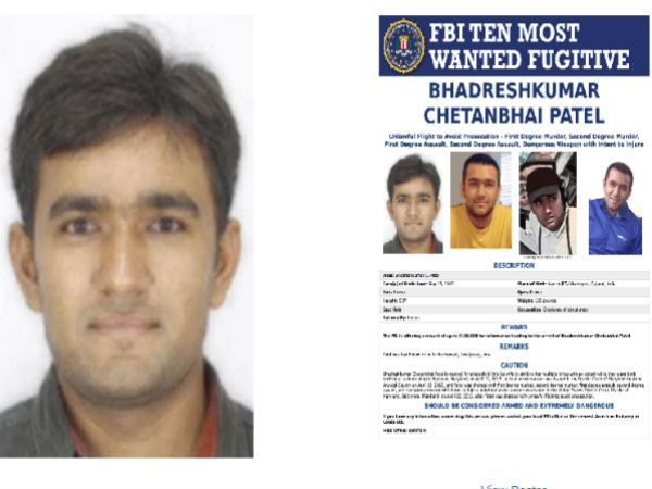 FBI puts Indian man in Most Wanted List
