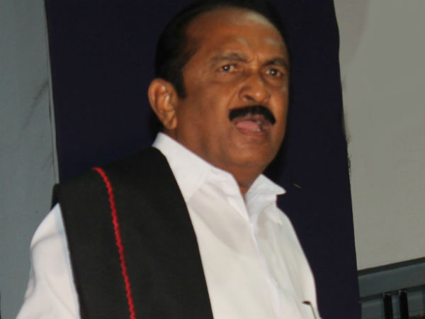 File photo of MDMK chief Vaiko