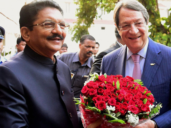 Cyprus President arrives in Mumbai for a four-day visit