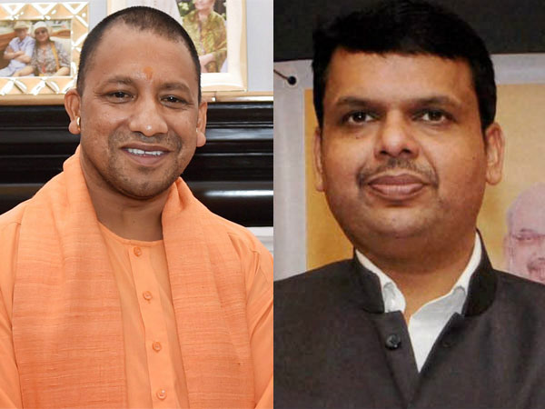 Uttar Pradesh Chief Minister Yogi Adityanath and his Maharashtra counterpart Devendra Fadnavis