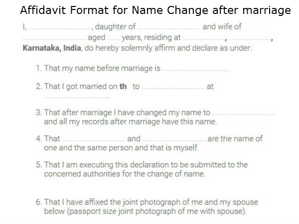 how to get your name changed in karnataka