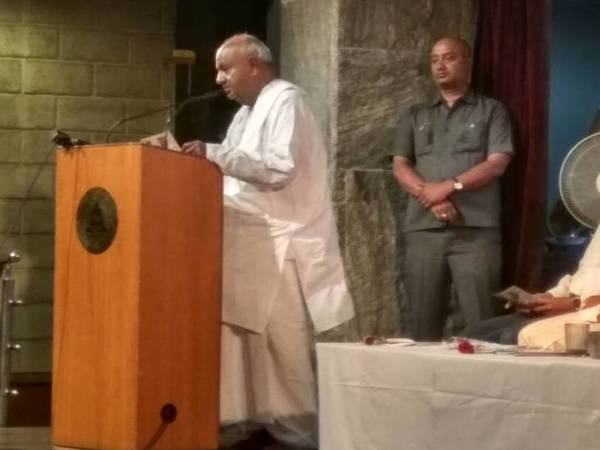 HD Deve Gowda speaking about his contribution to Karnataka