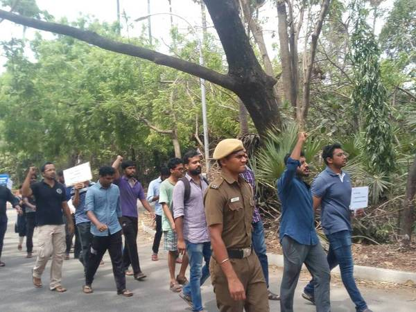 IITian protest inside campus