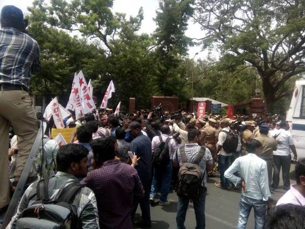 Protest near IITmaingate