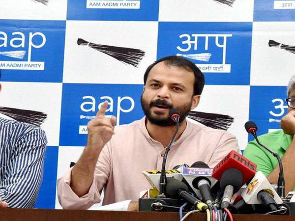 Aam Aadmi Party leader Ashish Khetan