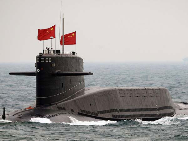 File photo of a Chinese submarine